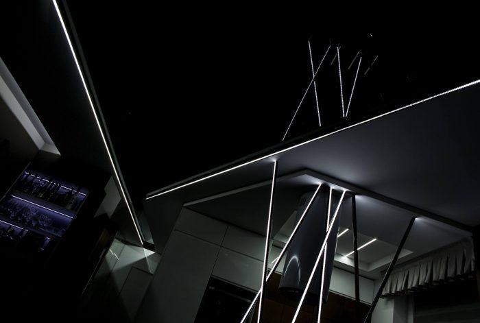 Projekt wnętrza mieszkania - salon - Rokitki koło Tczewa - autorski projekt lamp