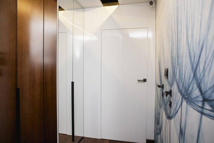 Projekt wnętrza mieszkania - przedpokój - Rokitki koło Tczewa