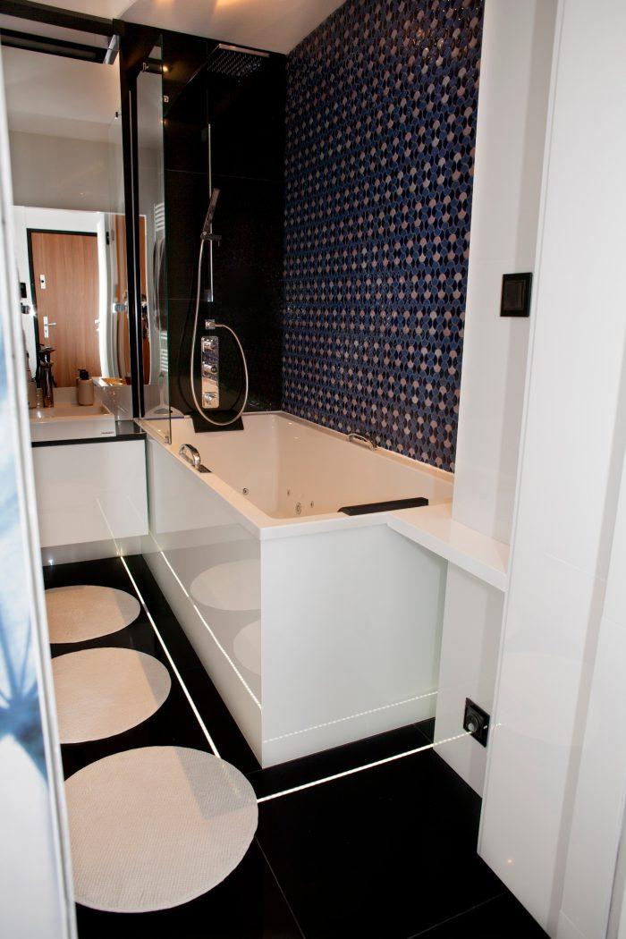 Projekt wnętrza mieszkania - Sypialnia- Rokitki koło Tczewa