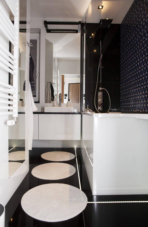 Projekt wnętrza mieszkania - łazienka - Rokitki koło Tczewa