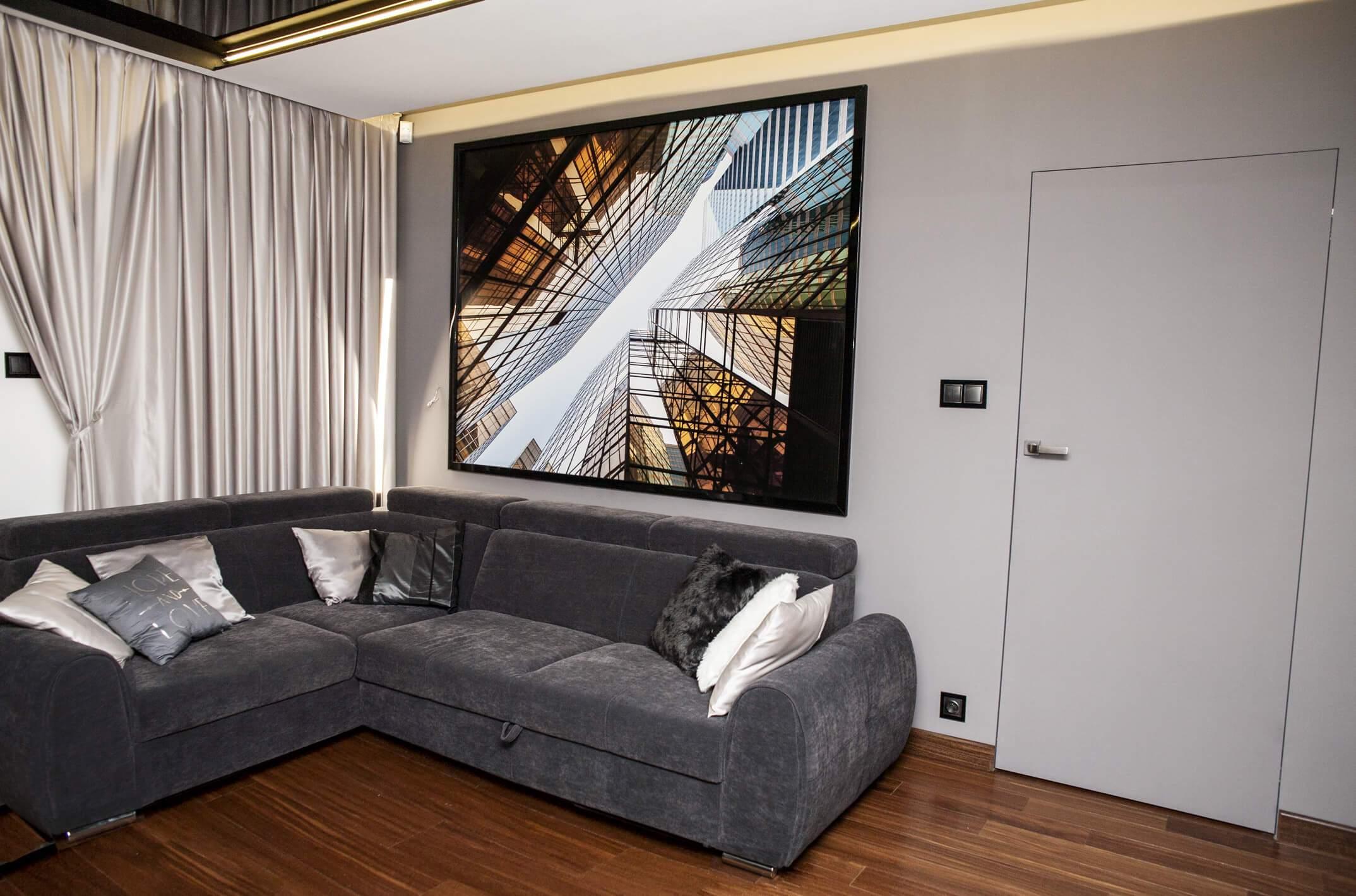 Projekt wnętrza mieszkania - salon - Rokitki koło Tczewa